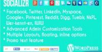 Social socializr share plugin wordpress toolbar