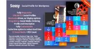 Social sossy wordpress for profile