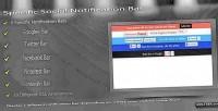 Social specific notification bar