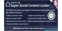 Social super content locker