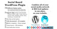Social wordpress board