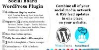 Social wordpress board
