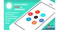Social wordpress bubble share