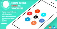 Social wordpress bubble share