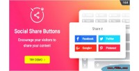 Social wordpress share buttons share plugin