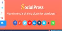 Socialpress new nice social wordpress for plugin