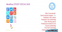 Sticky wordpress social bar