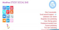 Sticky wordpress social bar