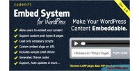System embed for wordpress