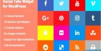 Tabs social wordpress for widget
