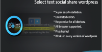 Text select wordpress share social