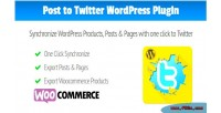 To post twitter synchronize wordpress posts & pages products to a twitter your