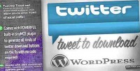 To tweet wordpress for download