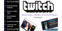 Twitch tv shortcodes embed wordpress for tools