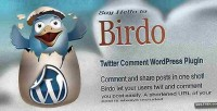 Twitter birdo comments plugin