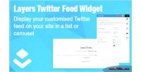 Twitter layers feed widget