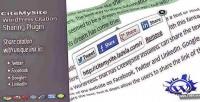 Wordpress citemysite plugin sharing citation