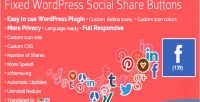 Wordpress fixed buttons share social