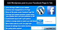 Wordpress posts to facebook tab in page wordpress