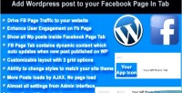 Wordpress posts to facebook tab in page wordpress