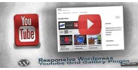 Wordpress responsive youtube gallery video grid