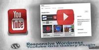 Wordpress responsive youtube gallery video grid
