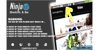 Wordpress the ninja bar shortener url