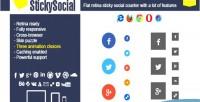 Wp stickysocial retina plugin counter social