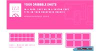 Wpshotsdojo portofolio wordpress plugin shots dribbble from