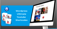 Youtube ultimate shortcodes