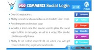 Social woocommerce plugin wordpress login