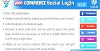 Social woocommerce plugin wordpress login