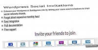 Social wordpress invitations