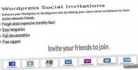 Social wordpress invitations