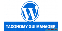 Taxonomy wp gui manager