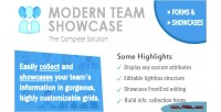 Team modern plugin wordpress showcase