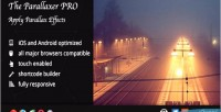 The parallaxer wp parallax content on effects