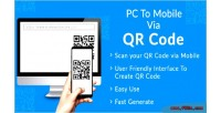 To pc mobile code qr via