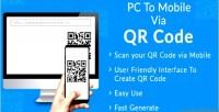 To pc mobile code qr via