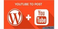 To youtube plugin wordpress post