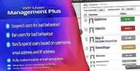 User wp management plus