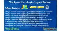 Users wordpress redirect logout login