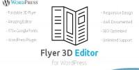 3d flyer editor wordpress plugin create 3d responsive flyer menu pricelist card
