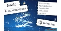 3d snow christmas wordpress for plugin