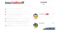 Accura foodmenu wp plugin menu restaurant modern