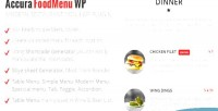 Accura foodmenu wp plugin menu restaurant modern