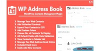 Address wp book plugin management contacts