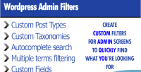 Admin wordpress filters