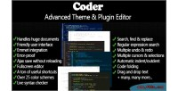 Advanced coder editor plugin theme