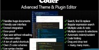 Advanced coder editor plugin theme